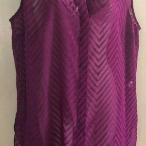 Dana Buchman Womens Shirt XLarge Purple Sleeveless